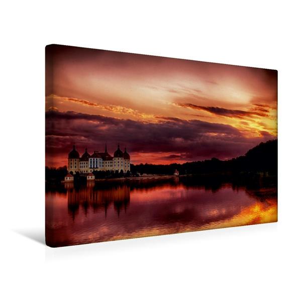 Premium Textil-Leinwand 45 cm x 30 cm quer, Schloss Moritzburg | Wandbild, Bild auf Keilrahmen, Fertigbild auf echter Leinwand, Leinwanddruck - Coverbild