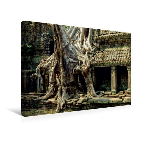 Premium Textil-Leinwand 45 cm x 30 cm quer, Angkor | Wandbild, Bild auf Keilrahmen, Fertigbild auf echter Leinwand, Leinwanddruck - Coverbild