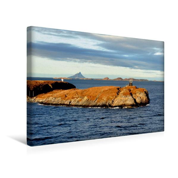 Premium Textil-Leinwand 45 cm x 30 cm quer, Überquerung des Polarkreises | Wandbild, Bild auf Keilrahmen, Fertigbild auf echter Leinwand, Leinwanddruck - Coverbild