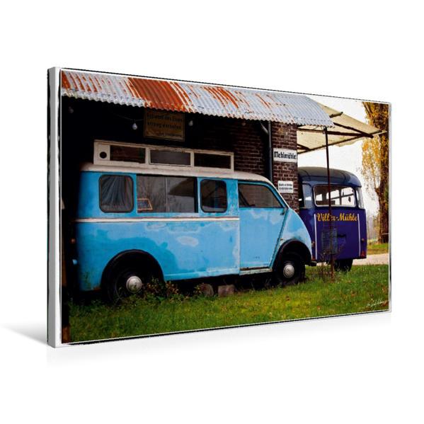 Premium Textil-Leinwand 75 cm x 50 cm quer, Two Blues | Wandbild, Bild auf Keilrahmen, Fertigbild auf echter Leinwand, Leinwanddruck - Coverbild