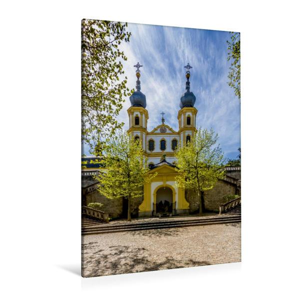 Premium Textil-Leinwand 80 cm x 120 cm  hoch, WÜRZBURG Käppele | Wandbild, Bild auf Keilrahmen, Fertigbild auf echter Leinwand, Leinwanddruck - Coverbild