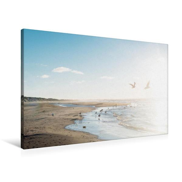 Premium Textil-Leinwand 90 cm x 60 cm quer, Ein Motiv aus dem Kalender Sehnsucht Meer - Poesie der Stille   Wandbild, Bild auf Keilrahmen, Fertigbild auf echter Leinwand, Leinwanddruck - Coverbild