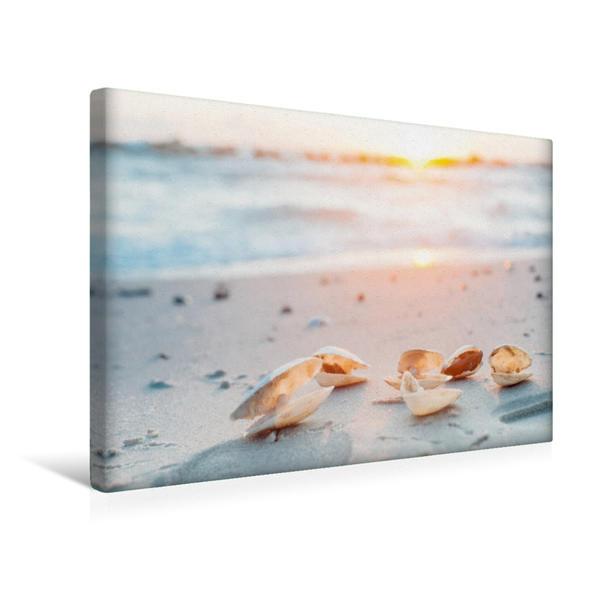 Premium Textil-Leinwand 45 cm x 30 cm quer, Ein Motiv aus dem Kalender Sehnsucht Meer - Poesie der Stille   Wandbild, Bild auf Keilrahmen, Fertigbild auf echter Leinwand, Leinwanddruck - Coverbild