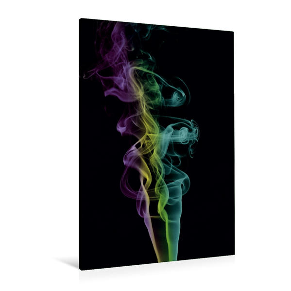 Premium Textil-Leinwand 80 cm x 120 cm  hoch, Ein Motiv aus dem Kalender Skulpturen aus Rauch   Wandbild, Bild auf Keilrahmen, Fertigbild auf echter Leinwand, Leinwanddruck - Coverbild