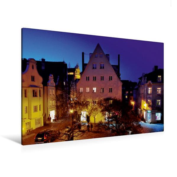 Premium Textil-Leinwand 120 cm x 80 cm quer, Am Holbeinplatz | Wandbild, Bild auf Keilrahmen, Fertigbild auf echter Leinwand, Leinwanddruck - Coverbild