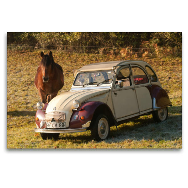 Premium Textil-Leinwand 120 cm x 80 cm quer, 3CV   Wandbild, Bild auf Keilrahmen, Fertigbild auf echter Leinwand, Leinwanddruck - Coverbild