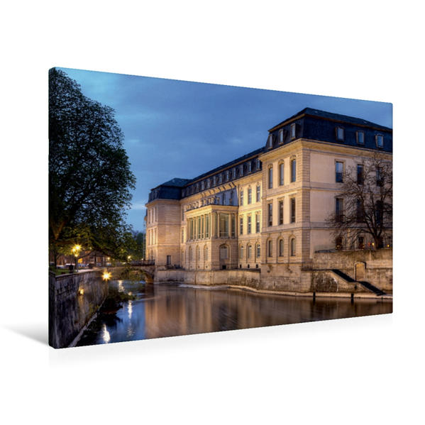 Premium Textil-Leinwand 90 cm x 60 cm quer, Landtag | Wandbild, Bild auf Keilrahmen, Fertigbild auf echter Leinwand, Leinwanddruck - Coverbild