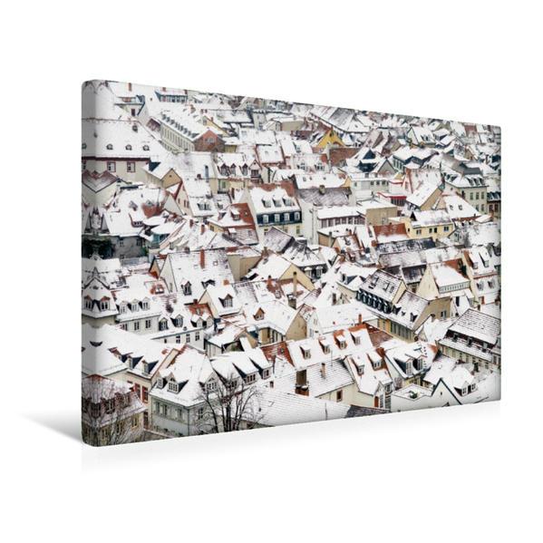Premium Textil-Leinwand 45 cm x 30 cm quer, Heidelberg im Winter | Wandbild, Bild auf Keilrahmen, Fertigbild auf echter Leinwand, Leinwanddruck - Coverbild