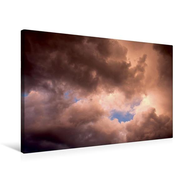 Premium Textil-Leinwand 75 cm x 50 cm quer, Ein Motiv aus dem Kalender Wolkenbilder | Wandbild, Bild auf Keilrahmen, Fertigbild auf echter Leinwand, Leinwanddruck - Coverbild
