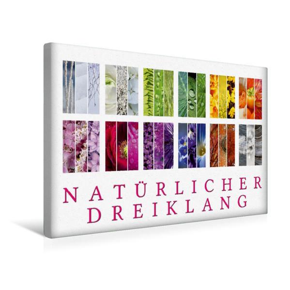 Premium Textil-Leinwand 45 cm x 30 cm quer, Ein Motiv aus dem Kalender Natürlicher Dreiklang | Wandbild, Bild auf Keilrahmen, Fertigbild auf echter Leinwand, Leinwanddruck - Coverbild
