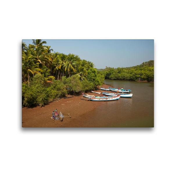 Premium Textil-Leinwand 45 cm x 30 cm quer, Goa | Wandbild, Bild auf Keilrahmen, Fertigbild auf echter Leinwand, Leinwanddruck - Coverbild