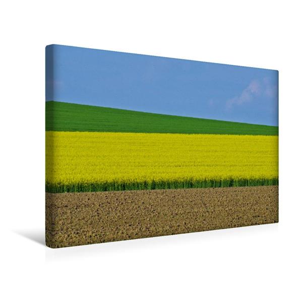 Premium Textil-Leinwand 45 cm x 30 cm quer, Die Rapsblüte macht den Mai bunt | Wandbild, Bild auf Keilrahmen, Fertigbild auf echter Leinwand, Leinwanddruck - Coverbild