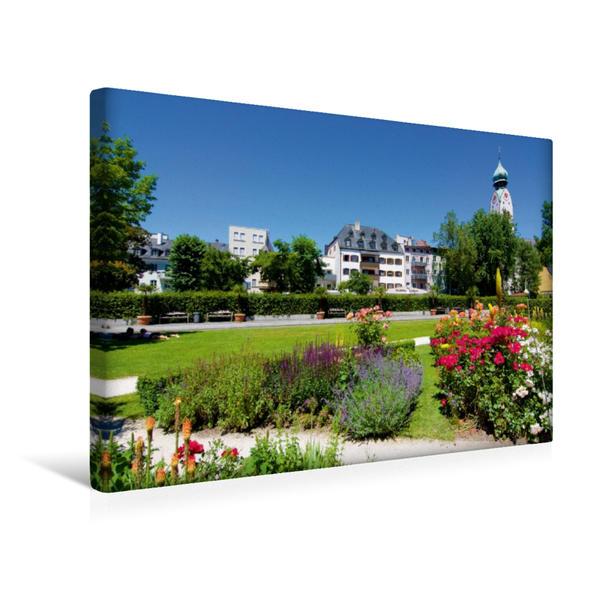 Premium Textil-Leinwand 45 cm x 30 cm quer, Riedergarten in Rosenheim   Wandbild, Bild auf Keilrahmen, Fertigbild auf echter Leinwand, Leinwanddruck - Coverbild