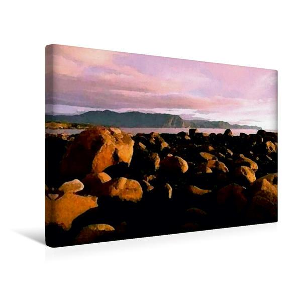 Premium Textil-Leinwand 45 cm x 30 cm quer, Bereits im Oktober bringt der Herbstwind erste Schneewolken nach Neufundland | Wandbild, Bild auf Keilrahmen, Fertigbild auf echter Leinwand, Leinwanddruck - Coverbild