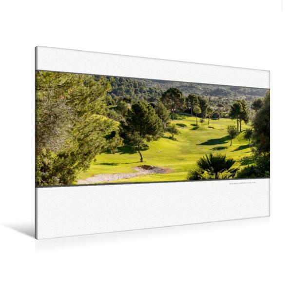 Premium Textil-Leinwand 120 cm x 80 cm quer, Ein Motiv aus dem Kalender Emotionale Momente: Die schönsten Golfplätze auf Mallorca.   Wandbild, Bild auf Keilrahmen, Fertigbild auf echter Leinwand, Leinwanddruck - Coverbild