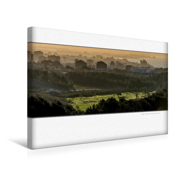 Premium Textil-Leinwand 45 cm x 30 cm quer, Ein Motiv aus dem Kalender Emotionale Momente: Die schönsten Golfplätze auf Mallorca.   Wandbild, Bild auf Keilrahmen, Fertigbild auf echter Leinwand, Leinwanddruck - Coverbild