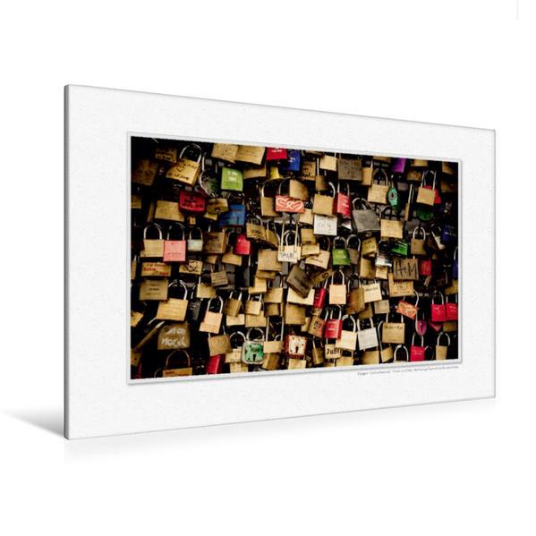 Premium Textil-Leinwand 120 cm x 80 cm quer, Ein Motiv aus dem Kalender Emotionale Momente: Unser Hochzeitsjahr. | Wandbild, Bild auf Keilrahmen, Fertigbild auf echter Leinwand, Leinwanddruck - Coverbild