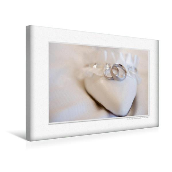 Premium Textil-Leinwand 45 cm x 30 cm quer, Ein Motiv aus dem Kalender Emotionale Momente: Unser Hochzeitsjahr.   Wandbild, Bild auf Keilrahmen, Fertigbild auf echter Leinwand, Leinwanddruck - Coverbild