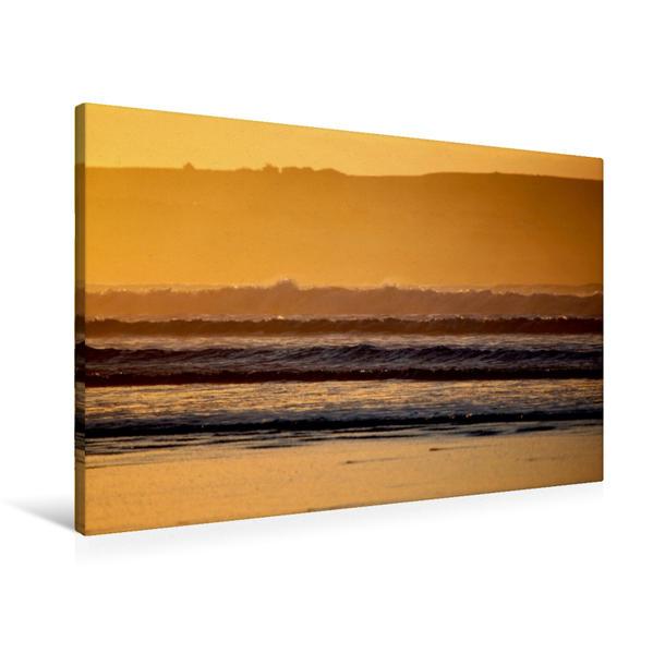 Premium Textil-Leinwand 90 cm x 60 cm quer, Dunnet Beach, Caithness, Schottland   Wandbild, Bild auf Keilrahmen, Fertigbild auf echter Leinwand, Leinwanddruck - Coverbild