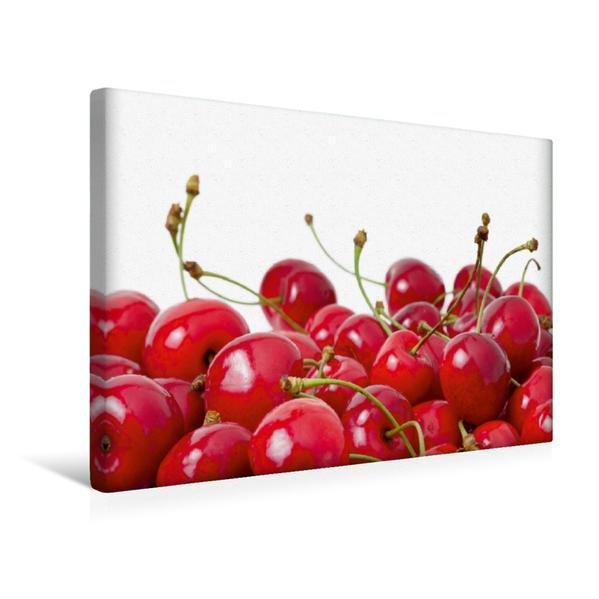 Premium Textil-Leinwand 45 cm x 30 cm quer, Kirschenzeit | Wandbild, Bild auf Keilrahmen, Fertigbild auf echter Leinwand, Leinwanddruck - Coverbild