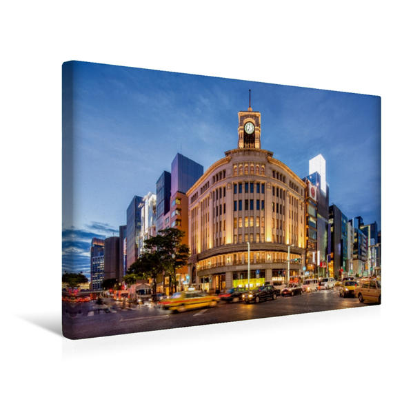 Premium Textil-Leinwand 45 cm x 30 cm quer, Ginza in Tokyo, Japan | Wandbild, Bild auf Keilrahmen, Fertigbild auf echter Leinwand, Leinwanddruck - Coverbild