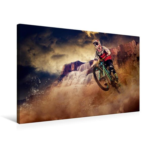 Premium Textil-Leinwand 75 cm x 50 cm quer, Ein Motiv aus dem Kalender Mountainbike Trails | Wandbild, Bild auf Keilrahmen, Fertigbild auf echter Leinwand, Leinwanddruck - Coverbild