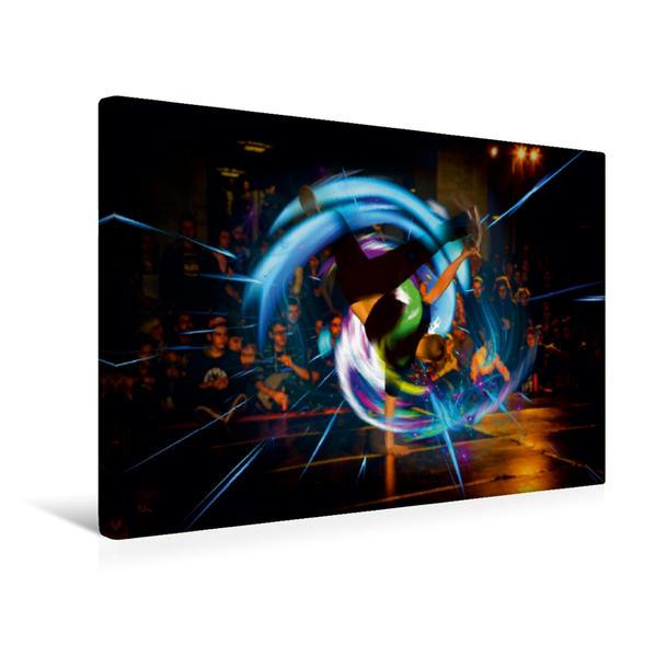 Premium Textil-Leinwand 45 cm x 30 cm quer, Ein Motiv aus dem Kalender Break Dance B-boys & B-girls   Wandbild, Bild auf Keilrahmen, Fertigbild auf echter Leinwand, Leinwanddruck - Coverbild