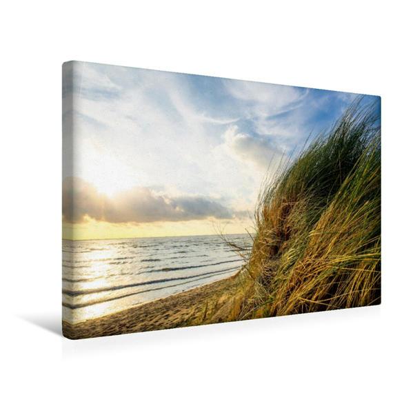 Premium Textil-Leinwand 45 cm x 30 cm quer, Strandimpression | Wandbild, Bild auf Keilrahmen, Fertigbild auf echter Leinwand, Leinwanddruck - Coverbild