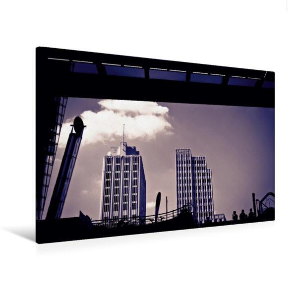 Premium Textil-Leinwand 120 cm x 80 cm quer, U-Bahnstation Potsdamer Platz | Wandbild, Bild auf Keilrahmen, Fertigbild auf echter Leinwand, Leinwanddruck - Coverbild