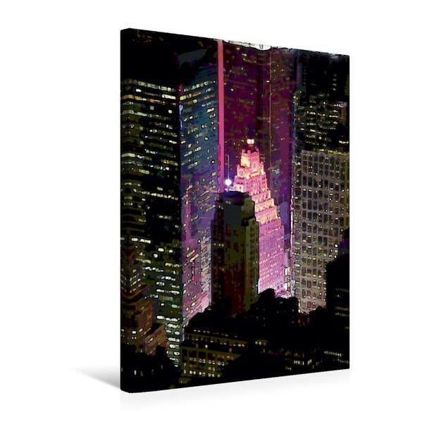 Premium Textil-Leinwand 50 cm x 75 cm hoch, Times Square | Wandbild, Bild auf Keilrahmen, Fertigbild auf echter Leinwand, Leinwanddruck - Coverbild