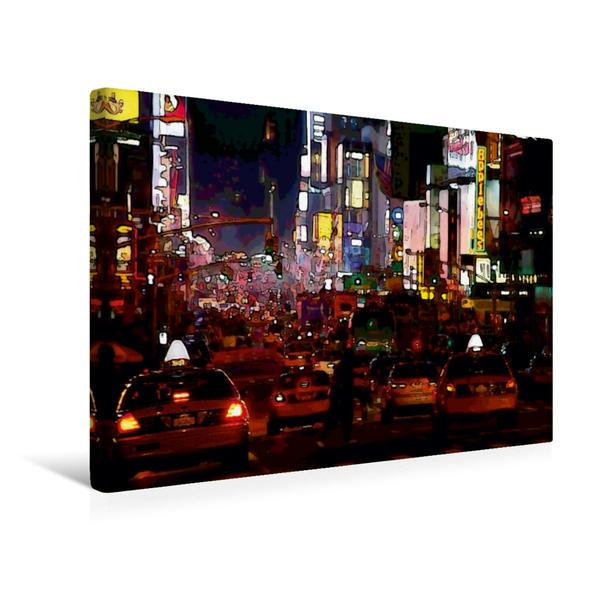 Premium Textil-Leinwand 45 cm x 30 cm quer, Broadway | Wandbild, Bild auf Keilrahmen, Fertigbild auf echter Leinwand, Leinwanddruck - Coverbild