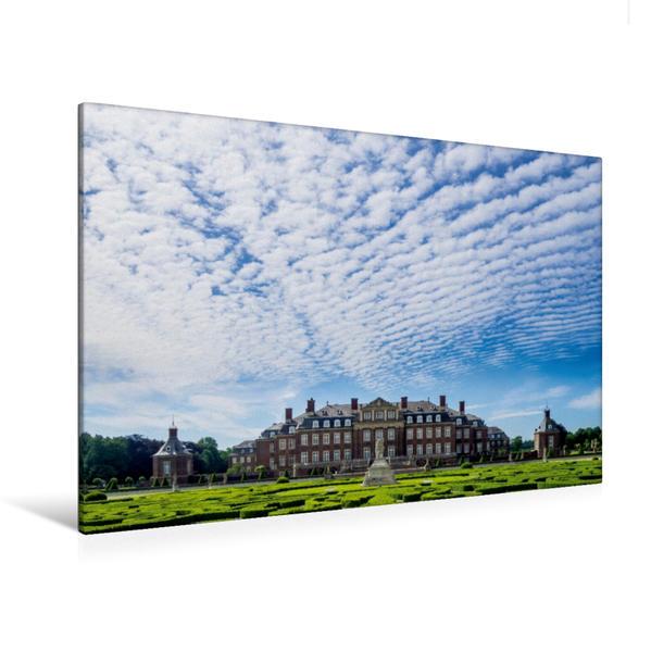 Premium Textil-Leinwand 120 cm x 80 cm quer, Schloss Nordkirchen (MB) | Wandbild, Bild auf Keilrahmen, Fertigbild auf echter Leinwand, Leinwanddruck - Coverbild