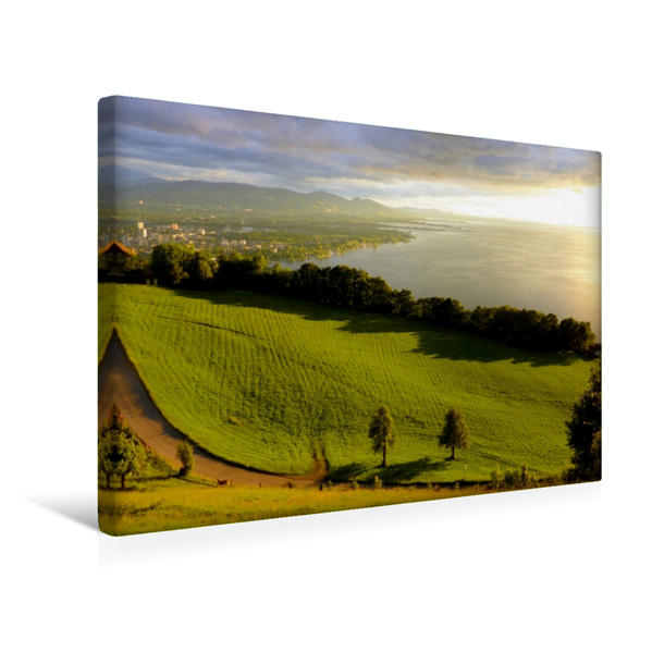 Premium Textil-Leinwand 45 cm x 30 cm quer, Blick vom Grünegger   Wandbild, Bild auf Keilrahmen, Fertigbild auf echter Leinwand, Leinwanddruck - Coverbild