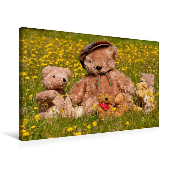Premium Textil-Leinwand 75 cm x 50 cm quer, Familienausflug | Wandbild, Bild auf Keilrahmen, Fertigbild auf echter Leinwand, Leinwanddruck - Coverbild