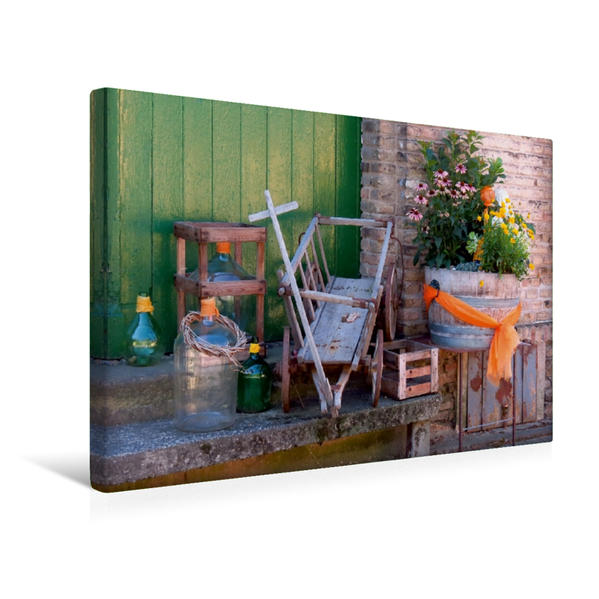 Premium Textil-Leinwand 45 cm x 30 cm quer, Winzer-Stillleben   Wandbild, Bild auf Keilrahmen, Fertigbild auf echter Leinwand, Leinwanddruck - Coverbild