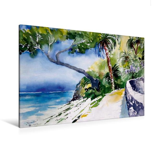 Premium Textil-Leinwand 120 cm x 80 cm quer, Am Meer - Teneriffa | Wandbild, Bild auf Keilrahmen, Fertigbild auf echter Leinwand, Leinwanddruck - Coverbild