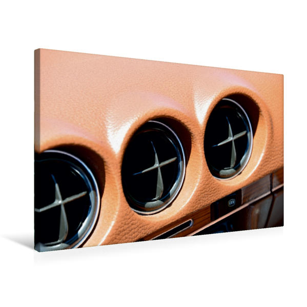 Premium Textil-Leinwand 75 cm x 50 cm quer, Ein Motiv aus dem Kalender Mercedes SL W107 - Ein Klassiker   Wandbild, Bild auf Keilrahmen, Fertigbild auf echter Leinwand, Leinwanddruck - Coverbild