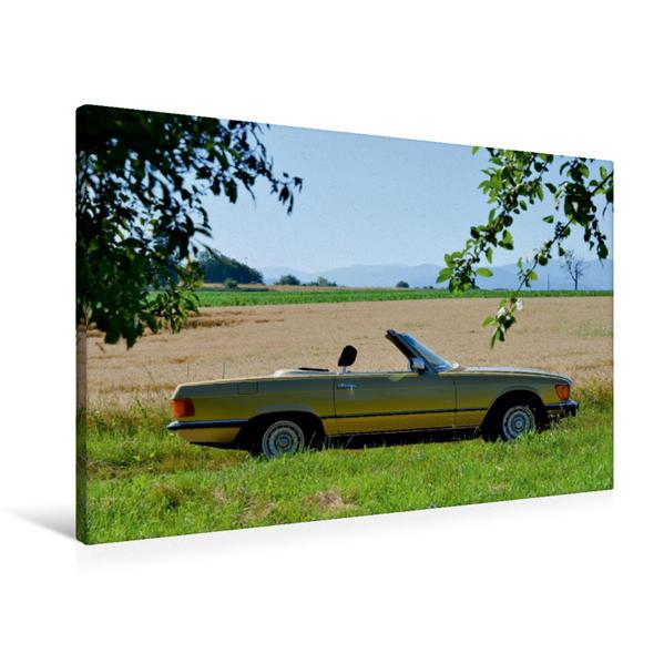 Premium Textil-Leinwand 90 cm x 60 cm quer, Ein Motiv aus dem Kalender Mercedes SL W107 - Terminplaner   Wandbild, Bild auf Keilrahmen, Fertigbild auf echter Leinwand, Leinwanddruck - Coverbild