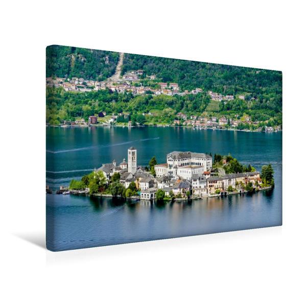 Premium Textil-Leinwand 45 cm x 30 cm quer, Isola San Giulio | Wandbild, Bild auf Keilrahmen, Fertigbild auf echter Leinwand, Leinwanddruck - Coverbild