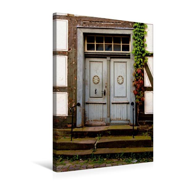 Premium Textil-Leinwand 50 cm x 75 cm hoch, Ein Motiv aus dem Kalender Türen & Portale aus Grebenstein | Wandbild, Bild auf Keilrahmen, Fertigbild auf echter Leinwand, Leinwanddruck - Coverbild