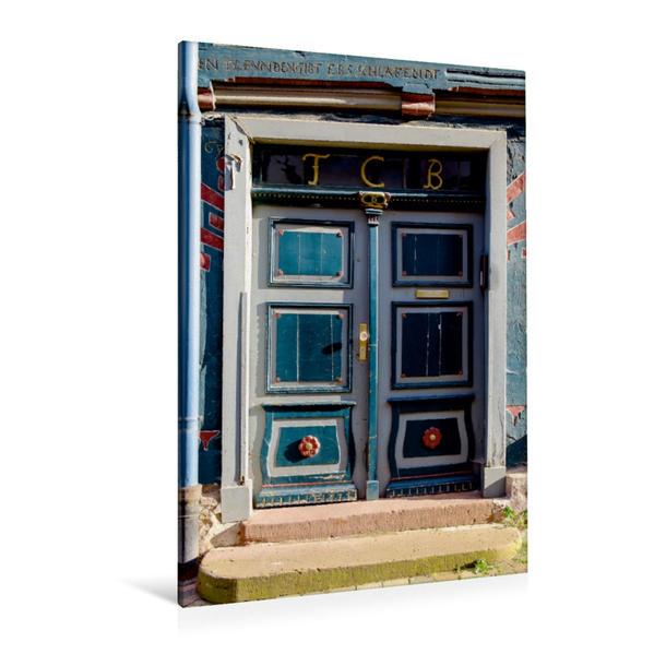 Premium Textil-Leinwand 80 cm x 120 cm  hoch, Ein Motiv aus dem Kalender Türen & Portale aus Grebenstein | Wandbild, Bild auf Keilrahmen, Fertigbild auf echter Leinwand, Leinwanddruck - Coverbild