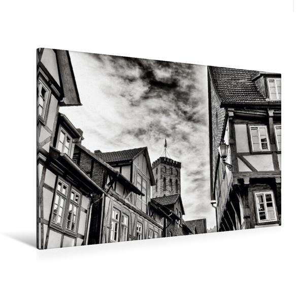 Premium Textil-Leinwand 120 cm x 80 cm quer, Ein Motiv aus dem Kalender Ein Blick auf Hann. Münden   Wandbild, Bild auf Keilrahmen, Fertigbild auf echter Leinwand, Leinwanddruck - Coverbild