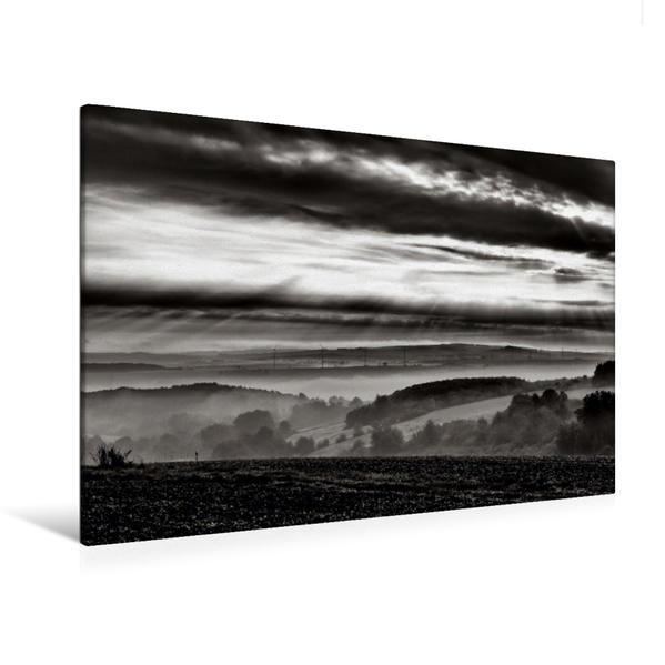 Premium Textil-Leinwand 120 cm x 80 cm quer, Landschaft bei Hofgeismar | Wandbild, Bild auf Keilrahmen, Fertigbild auf echter Leinwand, Leinwanddruck - Coverbild