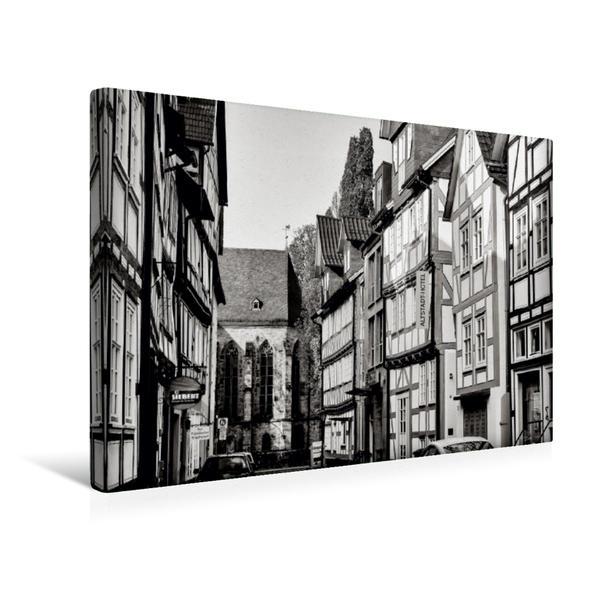 Premium Textil-Leinwand 45 cm x 30 cm quer, Rosenstraße | Wandbild, Bild auf Keilrahmen, Fertigbild auf echter Leinwand, Leinwanddruck - Coverbild