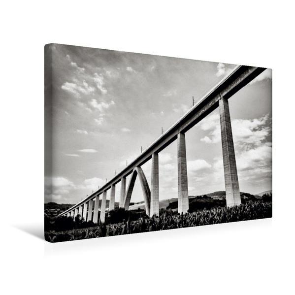 Premium Textil-Leinwand 45 cm x 30 cm quer, Fuldatalbrücke Morschen | Wandbild, Bild auf Keilrahmen, Fertigbild auf echter Leinwand, Leinwanddruck - Coverbild