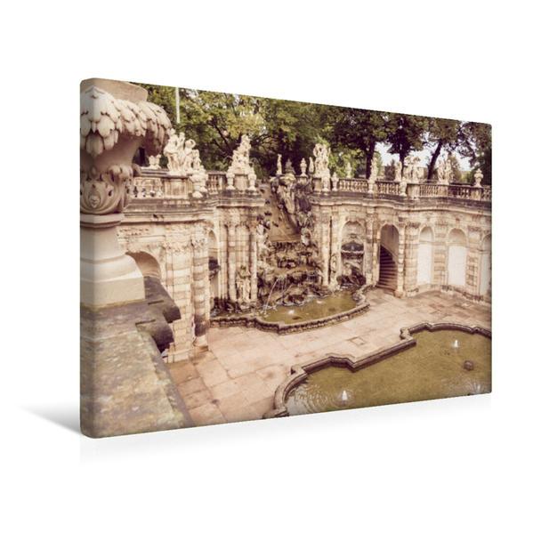 Premium Textil-Leinwand 45 cm x 30 cm quer, Barockes Baudenkmal in Dresden - der Zwinger | Wandbild, Bild auf Keilrahmen, Fertigbild auf echter Leinwand, Leinwanddruck - Coverbild