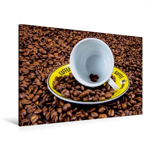 Premium Textil-Leinwand 120 cm x 80 cm quer, Ein Meer aus Kaffeebohnen | Wandbild, Bild auf Keilrahmen, Fertigbild auf echter Leinwand, Leinwanddruck - Coverbild