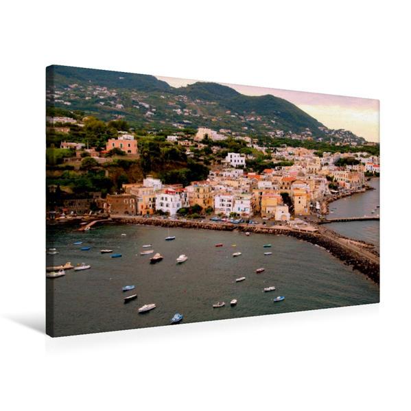 Premium Textil-Leinwand 75 cm x 50 cm quer, Ponte auf Ischia | Wandbild, Bild auf Keilrahmen, Fertigbild auf echter Leinwand, Leinwanddruck - Coverbild