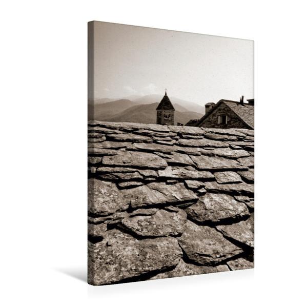 Premium Textil-Leinwand 50 cm x 75 cm hoch, Steindächer in Carmine Superiore | Wandbild, Bild auf Keilrahmen, Fertigbild auf echter Leinwand, Leinwanddruck - Coverbild