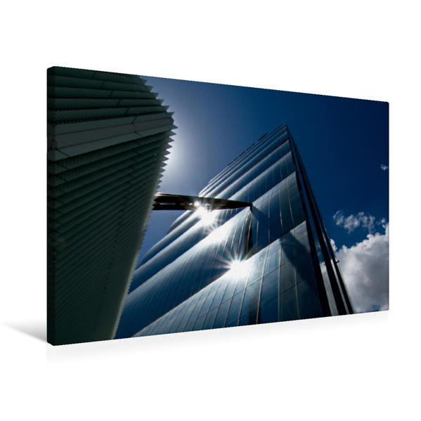 Premium Textil-Leinwand 75 cm x 50 cm quer, Mailand - neue Architektur | Wandbild, Bild auf Keilrahmen, Fertigbild auf echter Leinwand, Leinwanddruck - Coverbild